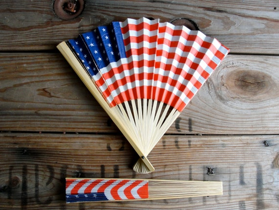 Vintage Hand Fans American Flag Paper Hand Fans Usa