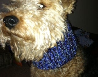 Dog scarf - hand knitted