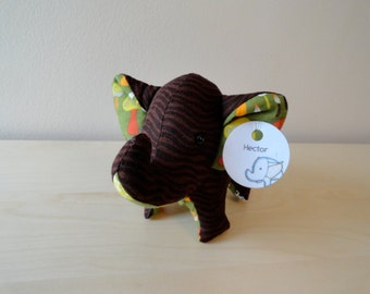 Tiny Stuffed Elephant- Hector