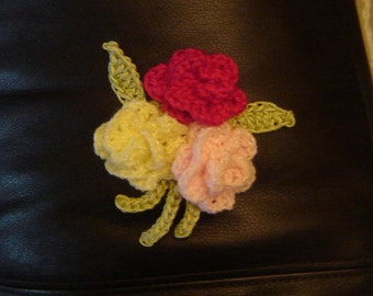 PDF Instant Download Crochet Pattern No 014 Bunch of Roses