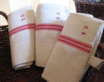 C. L. French Rustic Linen Towels