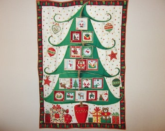 Christmas Advent Calendar - Christmas Tree on White