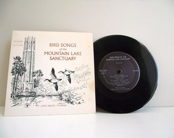 Bird Songs Mountain Lake Sanctuary, Lake Wales, Florida Vintage Vinyl Record 1970 33 1/3 RPM