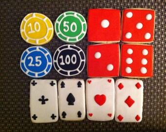 1 DZ Casino Poker Sugar Cookies