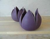 Tulip (purple tea-light holder) Marcus