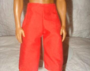 Board short in bright red for Male Fashion Dolls - kdc2