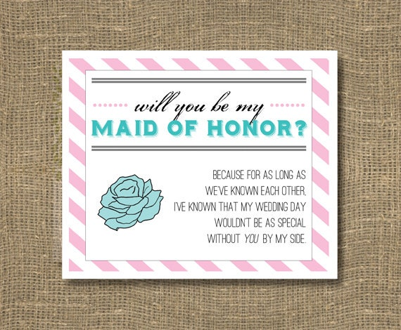 Honor Or Honour On Wedding Invitations: Will You Be My Maid Of Honor / Maid Of Honour / Will You Be My