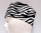 Unisex Surgical Scrub Cap or Chemo Cap Zebra Print