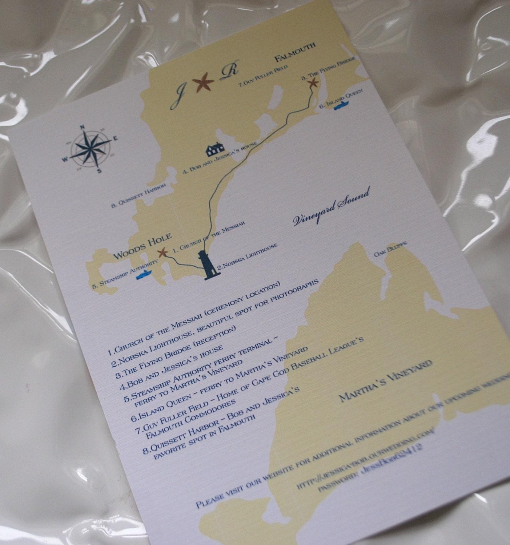Custom Wedding Map Wedding Invitation By Dulcepress On Etsy