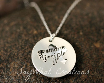 Custom Hand Stamped Sterling Silver UKRAINE Locket Necklace Perfect for Adopting Mothers