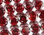 50% OFF LIST PRICE - One - 3mm Round Natural Red Garnet Faceted Gemstone