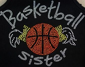 Basket Ball Sister Tank, Tee or LS Tee