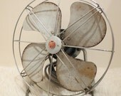 Vintage Antique 50s Mid Century Electric Fan By Pye Working Condition Collectible