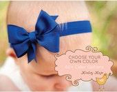 Baby Headband, Small Pinwheel Headband,  100+ Colors, Baby Headband Bow, infant headband, baby headbands, baby girl, white bow, pink bow
