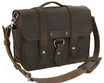 "17"" Brown Tahoe Voyager Laptop Bag -"