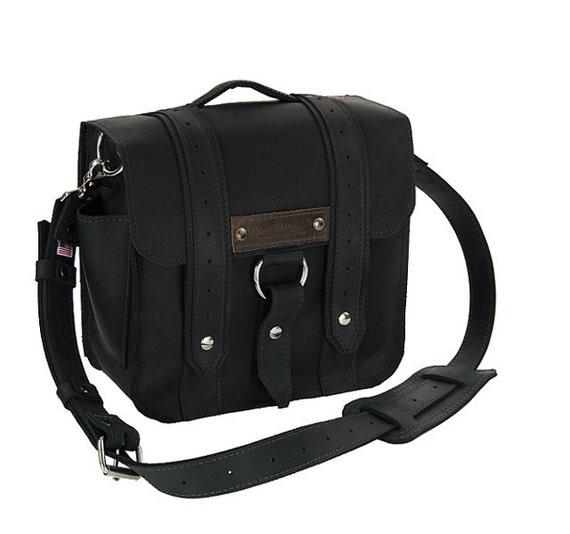 """10"""" Brooklyn Black Safari iPad Tablet Bag"""