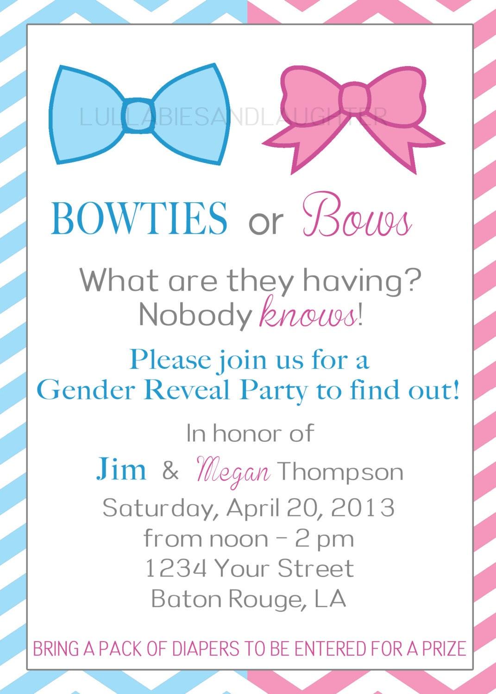 Gender Reveal Invite Wording – Baby Gender Reveal Party Invitation Wording