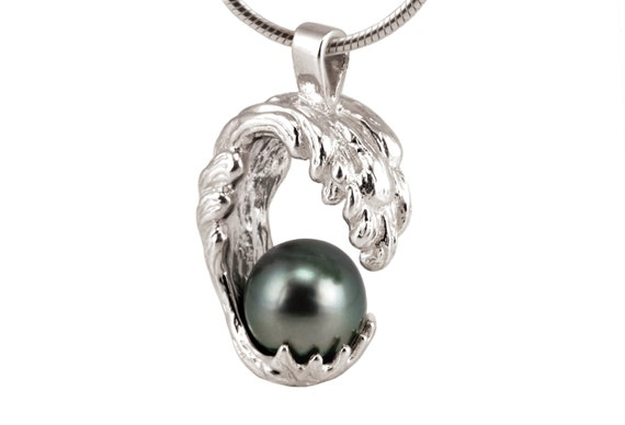 Black Pearl Necklace Single Pearl Necklace Single Tahitian