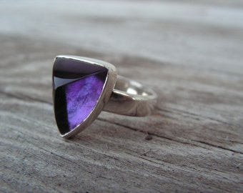 Siberian Amethyst and Silver Ring, Size 7