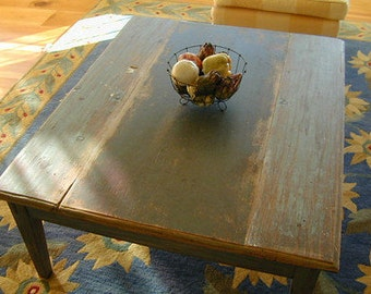 T2 Painted Coffee Table From Antique Painted Boards