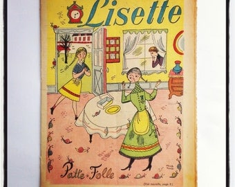 Lisette  french vintage  book