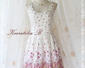 Summer Time IV - Spring Summer Collection Stunning Sundress Petite Floral Print Simply Vintage Style Party Dress