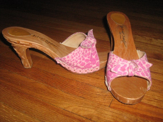 vintage betsey johnson pink leopard tiki by
