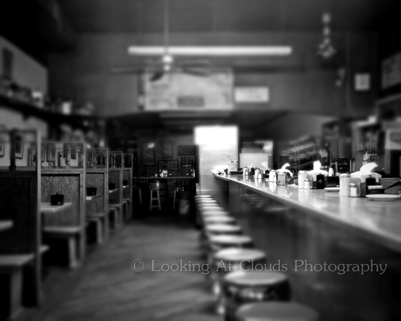 Restaurant Kitchen Photography empty diner after hours art photo vintage restaurant diner