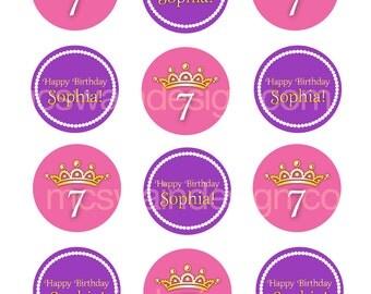 Sophia Princess Party Circles - Printable