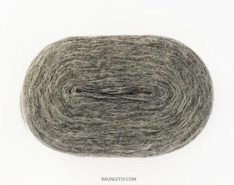 KAUNI, Thin Wool Pencil Rovings/Pre-Yarns, Spinning, Felting or Knitting Fiber, Grey