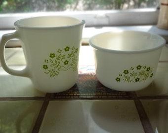 Honeydew Green Summer Expressions Vintage Sugar Bowl and Creamer Set