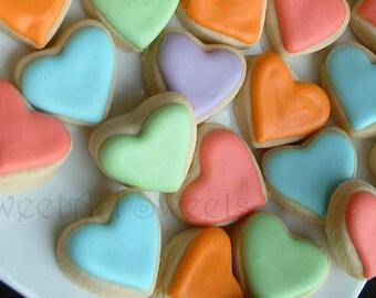 Valentine's Day cookies - 3 dozen - MINI heart cookies