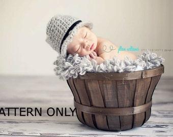 fedora crochet pattern, baby hat pattern, hat crochet pattern, baby fedora hat, baby boy hats, crochet boy patterns, photo prop pattern