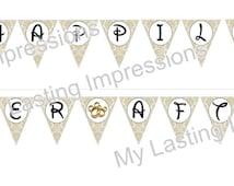 Mickey & Minnie Wedding | Bridal Shower | Bunting Banner | Instant Download