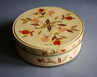Vintage Jewel 1981 Tin Container