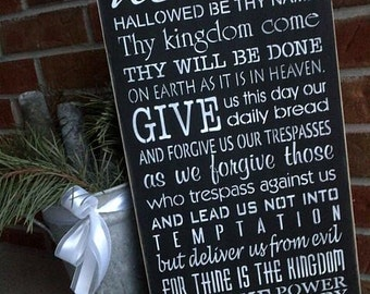 The Lord's Prayer wooden sign by Dressingroom5
