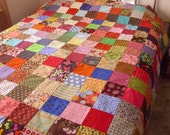 Patchwork Quilt Full Size Hand Quilted All Cotton Fabrics Layaway Available Payments Possible