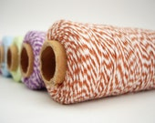 25 yards of Bakers Twine - Brown and White - BT02