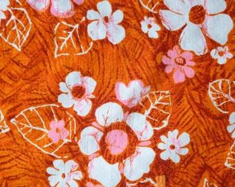 1960's Tiki LIKEKE Wiggle Barkcloth Dress with side slits and pocket