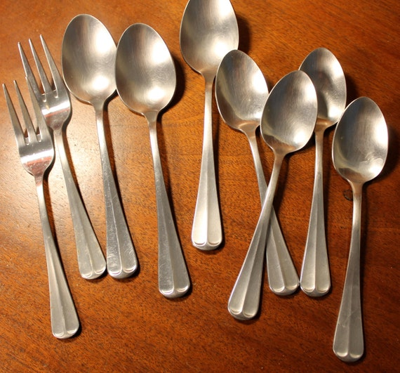Colonial Style Vintage Silverware From Retro Stainless