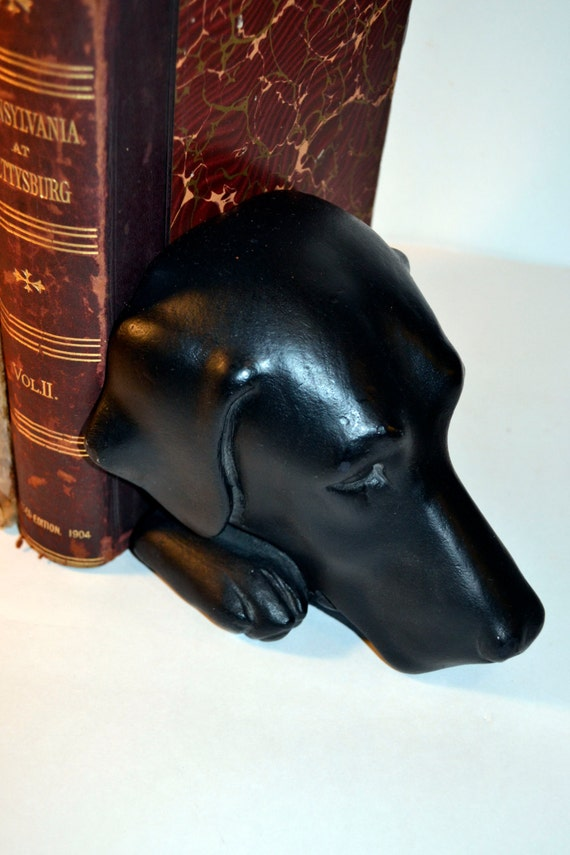 Black Lab Bookends Bookshelf Library Decor for Dog Lovers