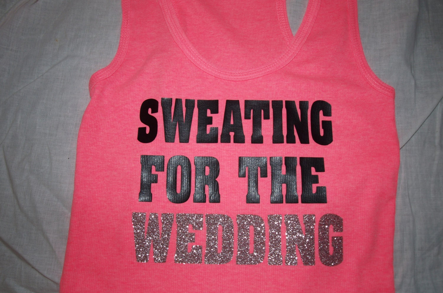 Sweating For The Wedding Tank Top Workout Shirt