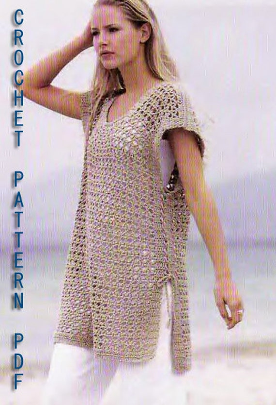 For Expirience Level only,Crochet Pattern instruction for Tunic, S/M /L sizes, PDF Files.
