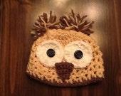 Cream Owl Hat