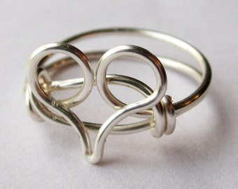 Heart Ring Silver Jewelry