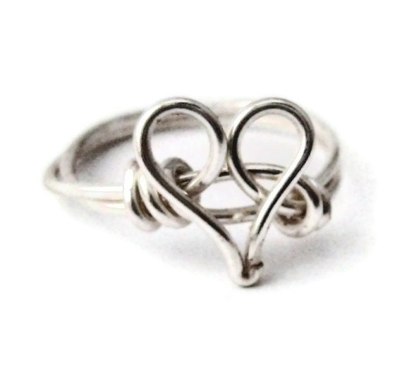 Silver Heart Promise Ring