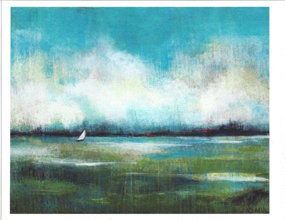 Seascape Painting Print from Original California Ocean Art Landscape Painting