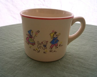 Vintage Mug Childs Mug Diaper Service Advertising Mug