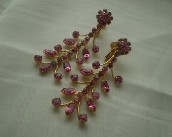 Sale Pink Rhinestone Earrings