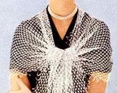 50s Net Shawl Crochet pattern pdf